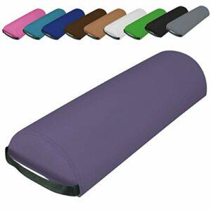 Vivezen ® Traversin, coussin demi-rond 66 cm x 22 cm x 12 cm pour table de massage – 10 coloris – Norme CE