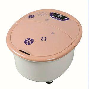 WWL Masseur Bain Spa Pied Pieds Spa Portable Détachable Chauffage Électrique Bouton Thalasso Pieds 500W Massage Pieds 220V 10L 3Kg Bain Pieds Massant Chauffant (Size : 39x25x46cm)