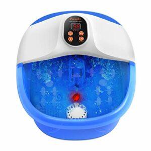 Appareil de massage électrique pour les pieds Carevas – Massage des pieds – Chauffage – Massage effervescent – Infrarouge