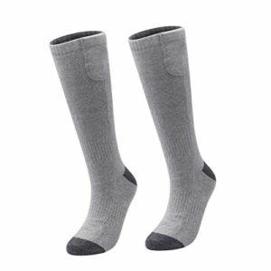 Artibetter 1 paire de chaussettes électriques confortables à piles pour détendre les pieds