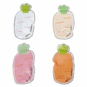 Artibetter Mini gel Hot Cold Pack Cartoon Carottes Gel Wrap Fieber Coussin de refroidissement pour soulager la douleur Petites blessures articulaires