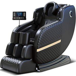 AYIYUN Chaise de massage électrique multifonction avec chauffage et rouleau pour les pieds pour la maison ou le bureau Noir
