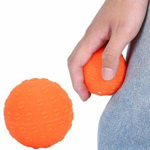 Balle de massage de yoga, balle de massage, balle d'entraînement pour la force des doigts, balle d'exercice pour grimper le corps, les épaules, les mains, les culturistes et les pianistes (orange)