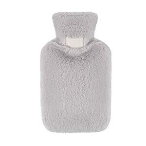 Bouteille d'eau chaude, mini-bouteille d'eau chaude pour Quick soulagement de la douleur et le confort à la main chaud 800ml gris