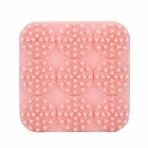 Brosse à shampoing Brosse en Silicone Pratique Légère pour réduire l'inconfort pour Les Femmes et Les Hommes(Pink)