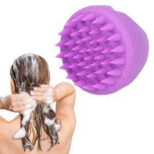 Brosse de massage multifonction pour cuir chevelu – En polypropylène et silicone – Pour homme et femme – Violet