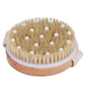 Corps de la brosse peau sèche Bain Douche Brosse Retour Scrubber naturel Exfoliant cellulite Soies Pinceau en bambou bois