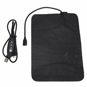 Coussin chauffant électrique 3 vitesses réglage de la température en cuir PU pour une utilisation quotidienne pour les crampes, le dos