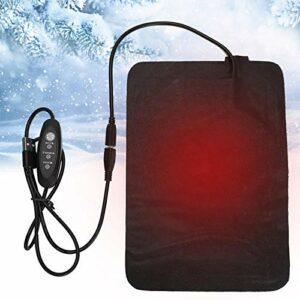 Coussin chauffant électrique en cuir PU Réglage de la température à 3 vitesses pour le soulagement de la douleur au cou