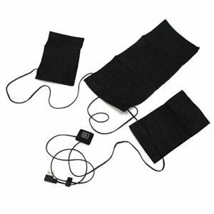 Coussin Chauffant électrique, Tissu Chauffant électrique Réglable Intelligent 3en1 Coussin Chauffant Imperméable pour Vêtements Gilet Couverture Bricolage Couture