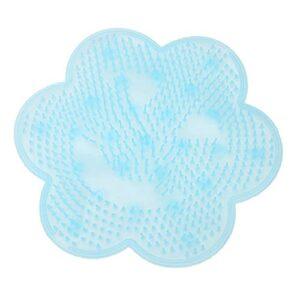 Coussin de Massage de Pied de Bain, Pad De Massage De Bain Paresseux Silicone (Color : Blue)