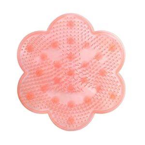 Coussin de Massage de Pied de Bain, Tapis De Salle De Bain en Silicone 1pc (Color : Pink)