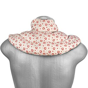 Coussin de nuque avec col montant – Coussin aux graines de lin – Coussin épaules et cou – Bouillotte pour cervicales (Design: amour champêtre)