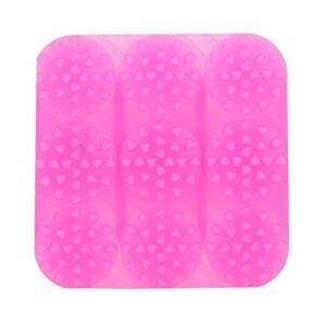 Demeras Brosse à shampooing Brosse en Silicone légère Confortable pour réduire l'inconfort pour la santé pour promouvoir(Rose Red)