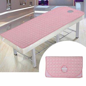 Drap de table de massage, draps de lit de spa confortables et respirants, doux et respirants de 31,5 x 74,8 pouces, pour le massage à domicile(pink)