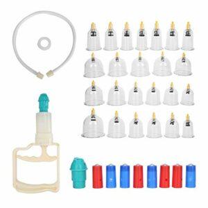Ensemble de thérapie complète de cupping, Techniques de traitement de la circulation sanguine de la tasse de coupe biomagnétique Cassée chinoise faite d'ABS pour les zones qui ne sont pas très plates