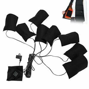 Feuille chauffante électrique complète à 3 vitesses, coussin chauffant électrique pour les épaules, pour les vêtements de gilets