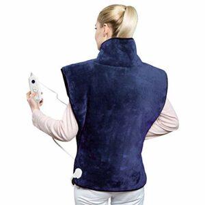 HANGSUN Coussin Chauffant Electrique pour le Dos, les Épaules TP670 Protection contre Surchauffe avec 6 Niveaux de Chauffage, Chauffage Rapide pour soulager la douleur Musculaires Lavable