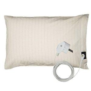 Housse de coussin avec câble de mise à la terre UE pour un meilleur sommeil Protection EMF (51 x 76 cm)