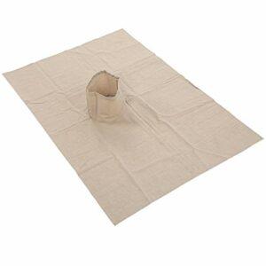 Housse de Protection de Table de Massage en Coton pour Table de Massage Standard de Salon de Beauté, Housse de Table de Massage avec Trou pour le Visage (70 X 100 Cm)(Kaki)