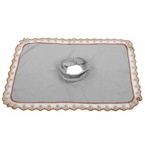 Housse de Protection pour Table de Massage Yinhing, Drap de Table de Massage pour Lit de Massage de Salon de Beauté Standard, Extra Doux et Moelleux avec Trou pour le Visage(gris)