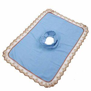 Housse de Table de Massage pour Lit de Massage de Salon de Beauté Standard, Housse de Protection de Table de Massage avec Trou pour le Visage(bleu)