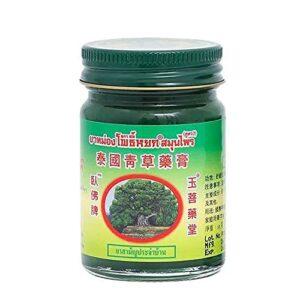 iSinofc Crème antiprurigineuse, 50 g Baume de Massage thaï Pommade Anti-Moustique Verte à Base de Plantes, Massage Articulations Musculaires Entorses Douleur