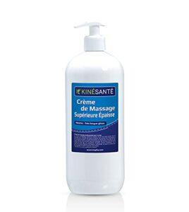 KINÉSANTÉ – Crème de massage Supérieure Neutre «Epaisse» Très longue glisse 1000 ml