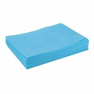 kowaku 10x Couvertures de Table de Massage Non-tissées de Serviette de Papier de Lit pour Le Tatouage 80x180cm – Bleu