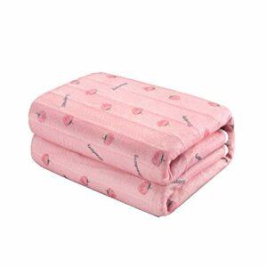 LIANG Chauffée Throw Blanket, température constante de quatre vitesses, Consolateur lit chauffé, uniforme chauffage, confortable for le corps humain, 12 heures intelligente Timing, sécurité, Convient