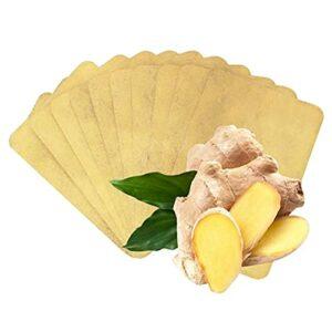Lot de 50 patchs chauffants pour les pieds au gingembre chinois – Soulage la douleur des épaules, du cou, des mains, du dos et des articulations