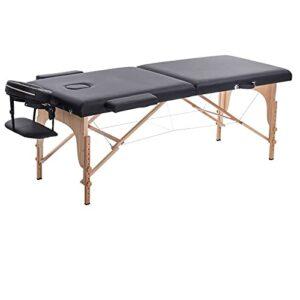 Lzcaure Table de massage pliante avec housse de transport – Table de massage professionnelle – Table de massage portable pour spa