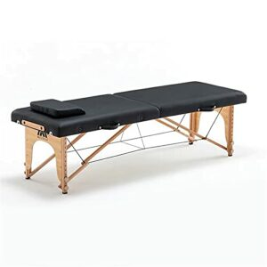 Lzcaure Table de massage pliante portable pour salon de beauté, spa, tatouage, meubles en bois de hêtre, table de massage pour le visage, table de massage (taille : taille unique, couleur : 1)