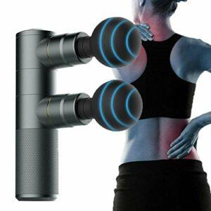 Masseur à percussion, masseur de muscles profonds avec huit têtes de massage double vitesse réglable, soulage les douleurs musculaires