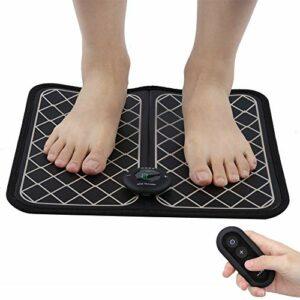 Masseur de pied électrique EMS, coussin de jambe de forme de stimulateur musculaire réglable, tapis de machine de massage de pieds télécommandé pour pieds et jambes