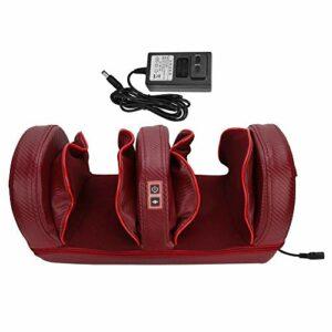 Masseur de pied électrique, machine de masseur de pied Shiatsu avec pétrissage en profondeur pour soulager la douleur au pied améliorer la circulation (rouge)
