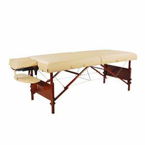 Master Massage Table de massage portable Del Ray Pro 76,2 cm, couleur sable, luxueuse avec coussin en mousse de 7,6 cm d'épaisseur