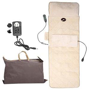 Matelas de Massage Corporel, Tapis de Massage Domestique Multifonctionnel, Coussin de Massage Chauffant pour Soulager la Douleur au Cou, au Dos, à la Taille et aux Jambes(EU)