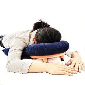 NACHEN Oreiller Face vers Le Bas, Oreiller pour Le Visage Endormi Oreiller De Soutien D'épaule Portable Adapté À La Forme du Visage Oreiller Rétinien Confortable Et Respirant