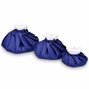 Navaris Set 3x poche de glace – Sac de chaleur et de froid réutilisable – Vessie de glace 3 tailles – bleu
