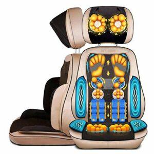N&O Coussin de Chaise de Massage de Dos de siège de Voiture de rénovation de Maison avec la Chaise de Massage Shiatsu de Masseur de Dos et de Cou de Chaleur pour Le Bureau à la Maison de Voiture