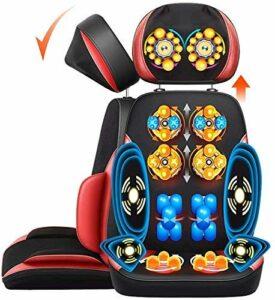 N&O Renovation House Fly Yuting Massage Shiatsu Massage Fauteuil de Massage Coussin de siège électrique pour soulager Les douleurs dorsales du Cou Taille et épaule ocipital réglable en Hauteur