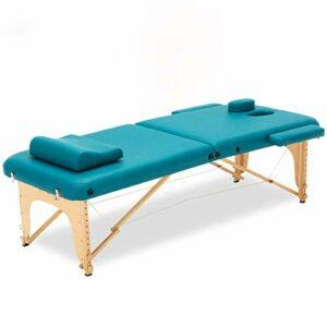 N&O Tables de Massage de Maison de rénovation Lit de beauté de Massage Pliant Multifonctionnel réglable en Hauteur avec Sac à Dos de Soutien de Bras d'oreiller de Cou Convient pour Le Massage de