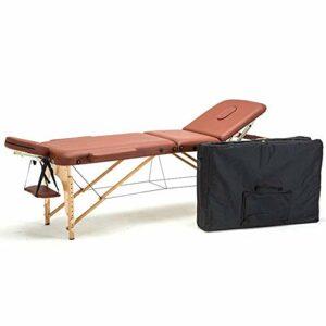N&O Tables de Massage de Maison de rénovation Table de Massage Pliante en Cuir multifonctionnelle Portable réglable en Hauteur et sélectionnable par Deux Couleurs avec Sac à Dos Convient pour Le