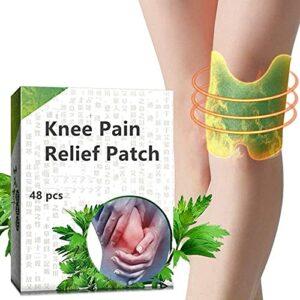 Patch de soulagement de la douleur au genou, autocollant de plâtre de genou à l'extrait d'absinthe, soulageant l'inflammation des muscles/douleurs articulaires (48 pièces)