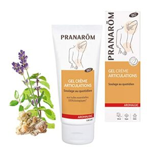 Pranarôm   Aromalgic Gel Crème Articulations Bio   Genou, dos, épaule, nuque   aux Huiles Essentielles Naturelles   100 ml