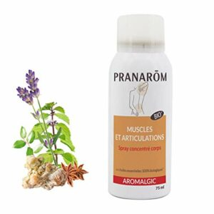 Pranarôm   Aromalgic   Spray Articulations et Muscles Sensibles   Formule Concentrée   Aux Huiles Essentielles Bio   75 ml