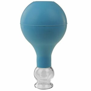 Pulox Pot à ventouses en verre véritable Plusieurs tailles et couleurs (25 mm, bleu)