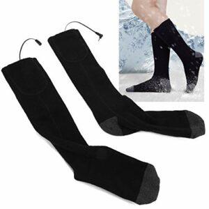 Qqmora Couvre-Pieds Chauffant électrique Chauffe-Pieds lavables à Froid électrique Chaussettes chauffantes pour l'hiver à l'intérieur pour Le Sport