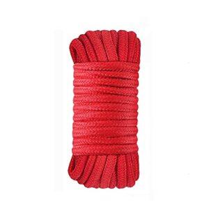 QQyh Corde de Coton, 1 Paquet de 16 Pieds 5M Rouge Rouge PLUMIFICABLE Plus UTILABLE Rope MULTIFONCTIONNELLE Long Strap-Sheng0602